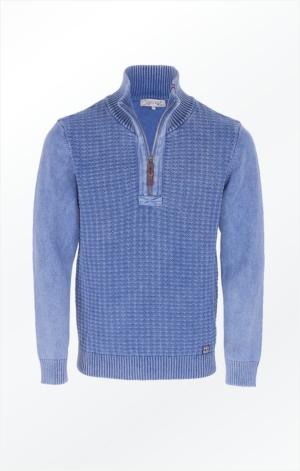 Flot Indigo Blå Pullover lavet i ren Bomuld til Mænd fra Piece of Blue