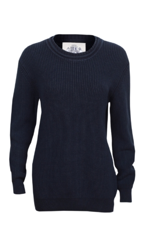 Patent strikket pullover i mørkeblå. Piece of Blue