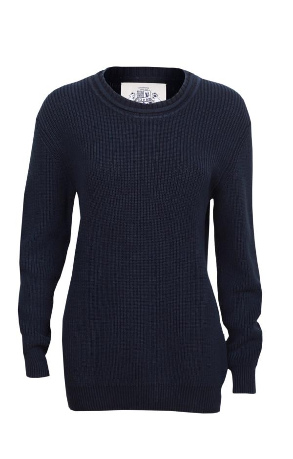 Patent strikket pullover i mørkeblå. Piece of Blue