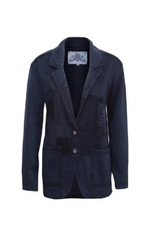 Velklaedt oversized Blazer i Mørkeblå. Piece of Blue