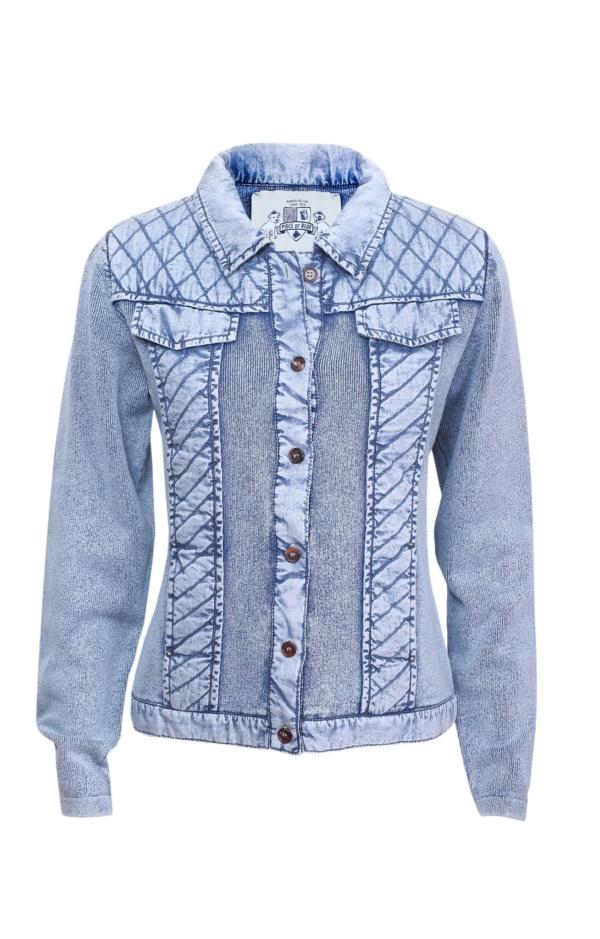 Basic jakke i lys indigo blå. Piece of Blue