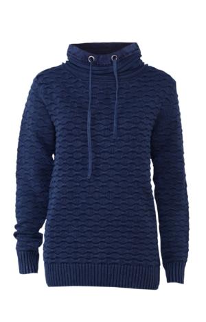 Klassisk pullover med elegant krave i mørkeblå. Piece of Blue
