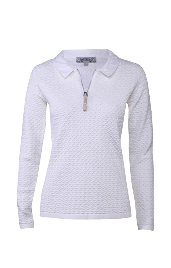 Enkel og Elegant Pullover i Hvid. Piece of Blue