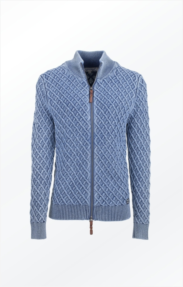 Boyfriend Cardigan i Lys Indigo Blå. Piece of Blue