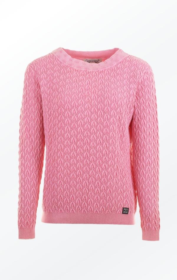 Elegant Boat Neck Pullover i Pink til Kvinder fra Piece of Blue.