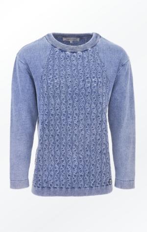 Enkel og Feminin O-Hals Pullover i Lys Indigo Blå fra Piece of Blue