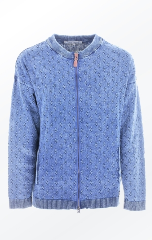 Enkel Cardigan med Loose Fit Lys Indigo Blå fra Piece of Blue