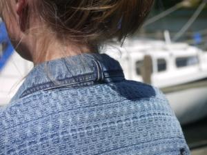 Sailor inspireret Polo i ren Bomuld til Kvinder fra Piece of Blue