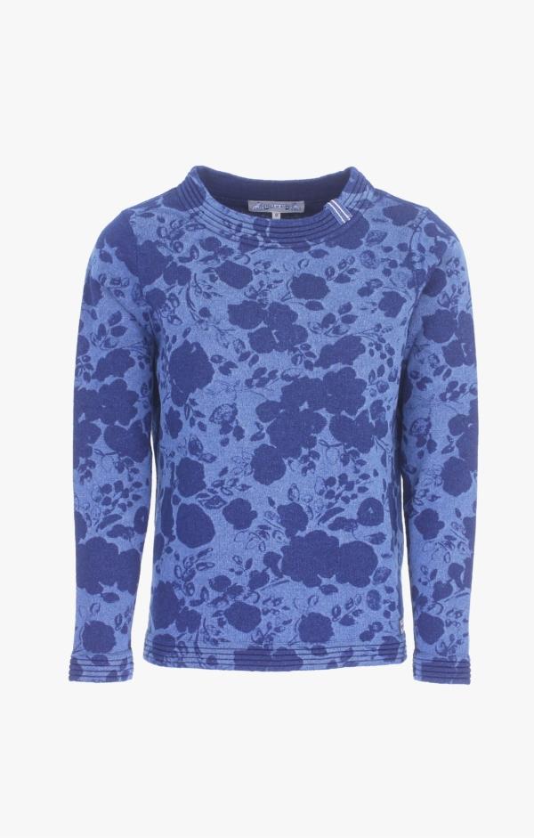 Indigo Pullover Strikket i ren Bomuld til Kvinder fra Piece of Blue