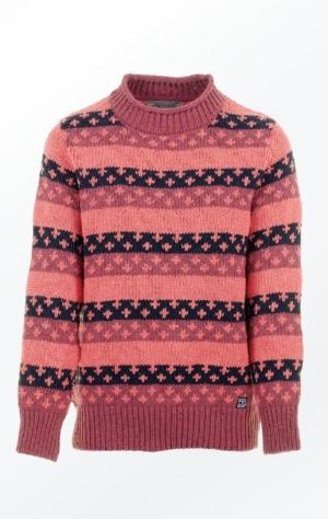 Hyggelig Pullover i Rød med Flot Krave fra Piece of Blue
