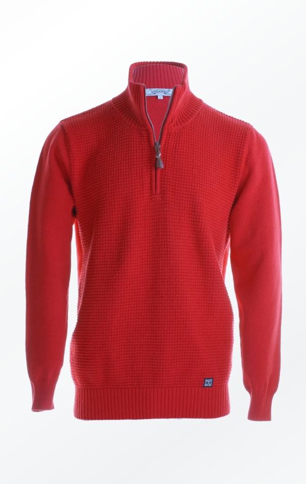 Enkel Bomuldspullover i flot Rød til Mænd fra Piece of Blue