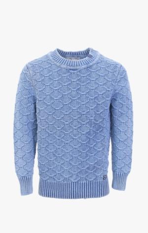 Flot og Hyggelig Strikpullover i Indigo Blå fra Piece of Blue