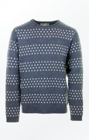 Flot Grå Pullover Strikket i økologisk Bomuldsgarn til Mænd fra Piece of Blue